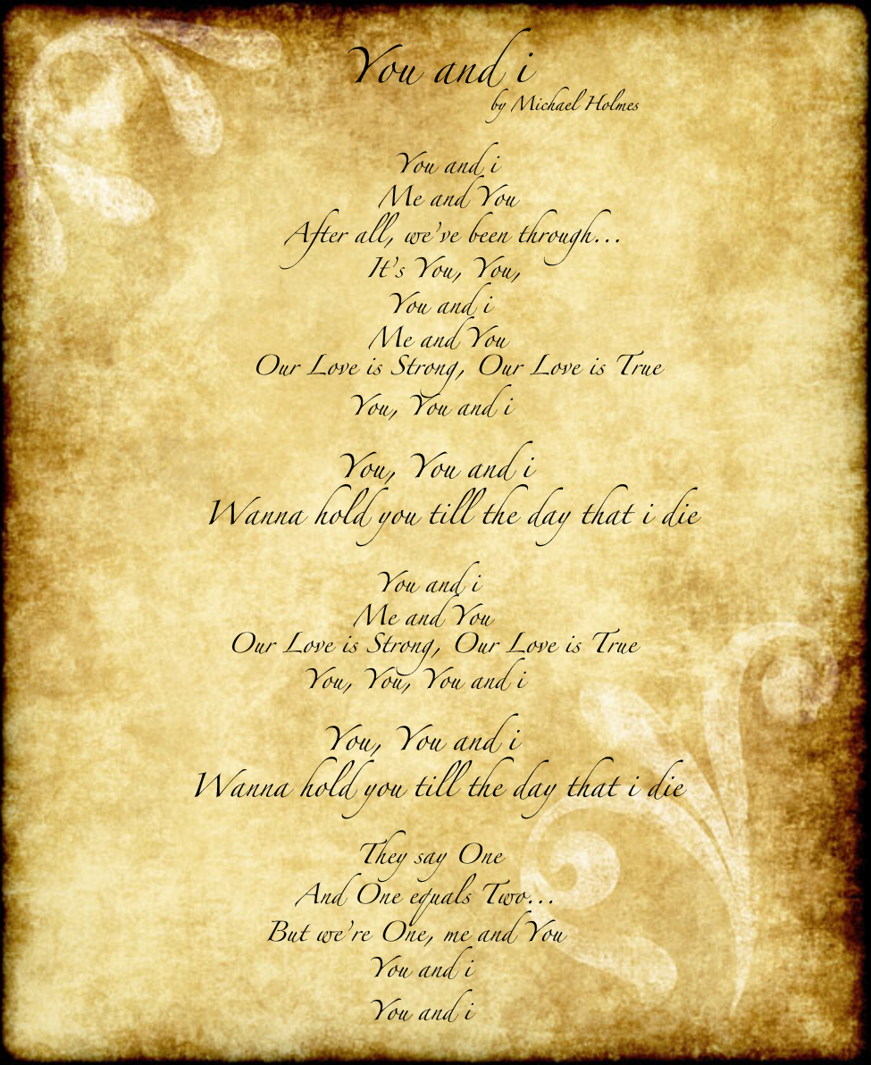 you and i lyrics